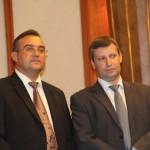 Министр туризма    Стас Месежников и посол Украины Геннадий Надоленко