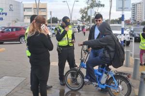 מבצע אכיפה אופניים חשמליים בבית הספר המעיין